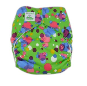 Tiny Tush Bubbles Snap Elite One Size Pocket Diaper