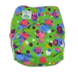 Tiny Tush Bubbles Snap Elite One Size Pocket Diaper