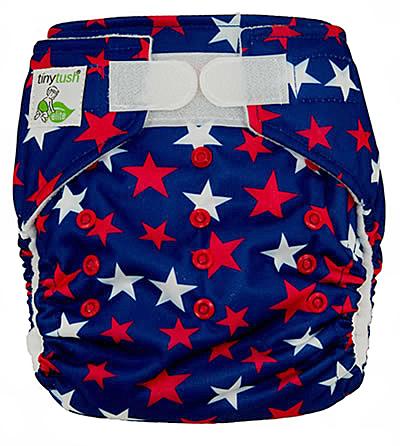 Star Spangled Aplix One Size Pocket Diaper