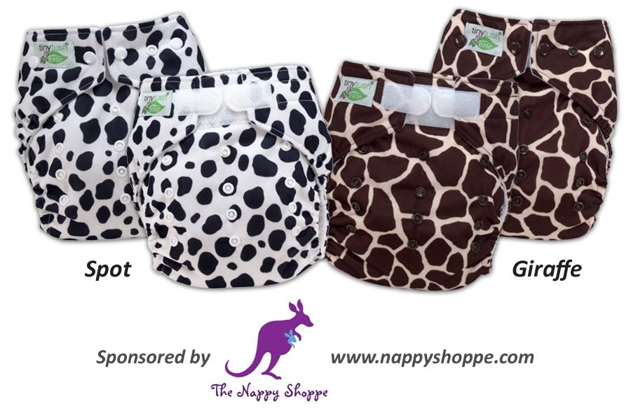 New Elite 2.0 One Size Pocket Diaper Prints - Spot & Giraffe