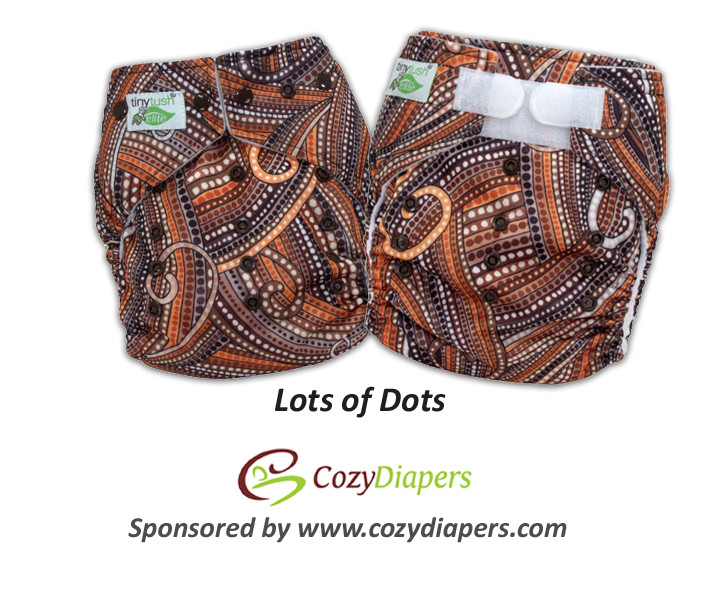 New One Size Pocket Diaper Prints - Lots of Dots